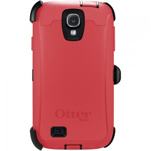 OtterBox DEFENDER Samsung Rugged Series Case w/Belt Clip, Samsung Galaxy S4 - Raspberry