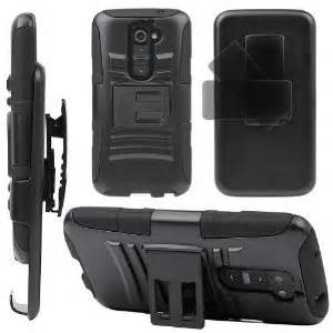 Evecase ROBUST Rugged Dual Layer Holster Case with Belt Clip and Kick-Stand Black