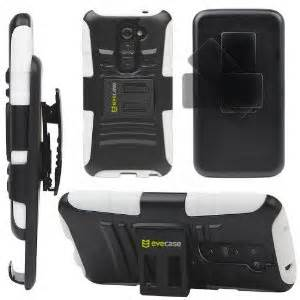 Evecase Rugged Shell Stand Case and Holster Combo for LG G2 - Black