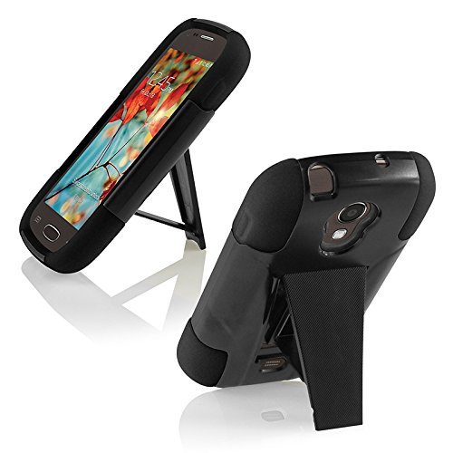 Samsung Galaxy Light T399 Cover Case (T-Stand Hybrid Black / Black)