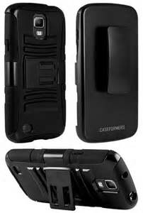 CASEFORMERS Duo Armor BLACK for Samsung Galaxy Light Combo Case with Stand and Holster