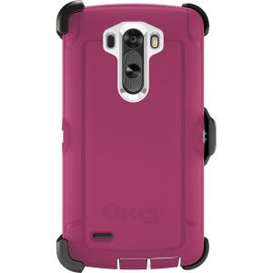 OtterBox DEFENDER Rugged Series Case w/Belt Clip For LG G3 (White/Peony Pink)
