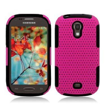 Progressive Hybrid Gummy Mesh Defense Case for Samsung Galaxy Light t399 Black/Pink