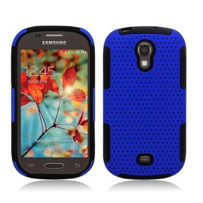 Progressive Hybrid Gummy Mesh Defense Case for Samsung Galaxy Light t399 Black/Blue