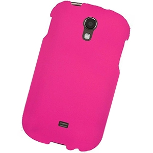 Samsung Galaxy Light Rubberized Protector Case - Hot Pink