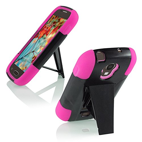 Samsung Galaxy Light T399 Cover Case (T-Stand Hybrid Pink / Black)