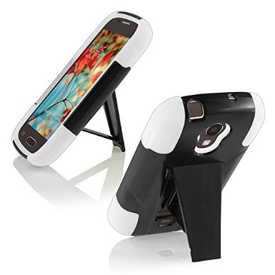 Samsung Galaxy Light T399 Cover Case (T-Stand Hybrid White / Black)