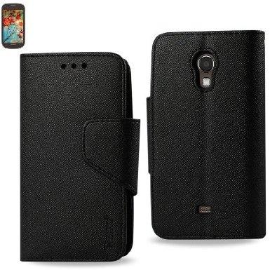 Samsung Galaxy Light T399 3-In-1 Wallet Case BLACK