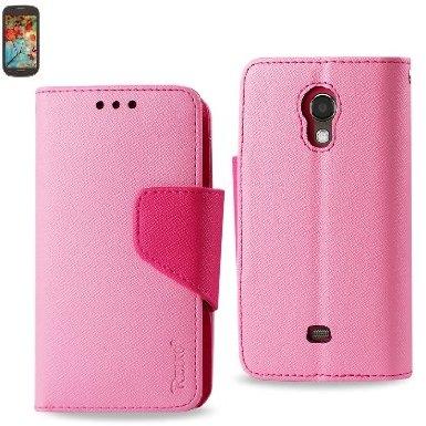 Samsung Galaxy Light T399 3-In-1 Wallet Case Pink