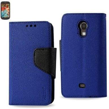 Samsung Galaxy Light T399 3-In-1 Wallet Case NAVY BLUE