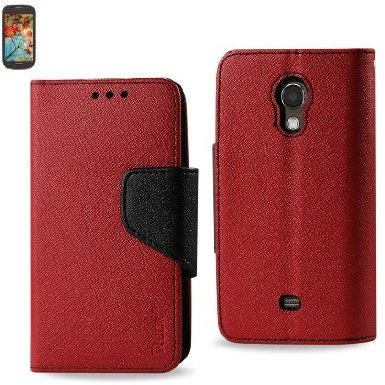 Samsung Galaxy Light T399 3-In-1 Wallet Case RED
