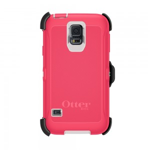 OtterBox DEFENDER Samsung Galaxy S5 Rugged Series Case w/Belt Clip - Rose