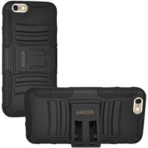 Premium Hybrid Kickstand Case (iPhone 6/6S) - Black/ Black