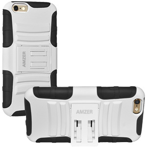 Hybrid Kickstand Case - Black/ White