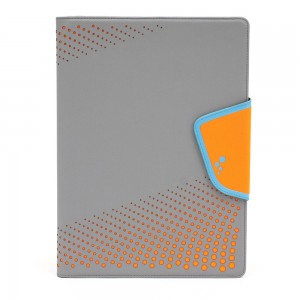 M-Edge - Sneak Folio for XL Devices in Gray/Orange