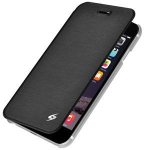 Premium Flip Cover w/ Credit Card Holder For iPhone 6Plus Black