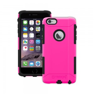 Trident Aegis Case Compatible with Apple iPhone 6 Plus - Pink (No Belt Clip)