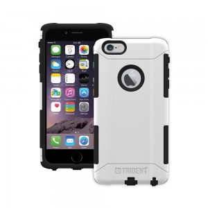 Trident Aegis Case Compatible with Apple iPhone 6 Plus - White (No Belt Clip)