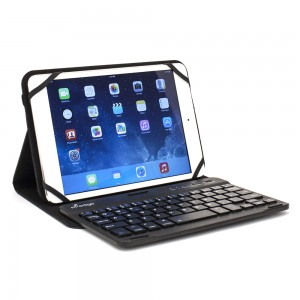 M-Edge Universal Folio Plus Pro w/Bluetooth Keyboard for XL Devices in Black