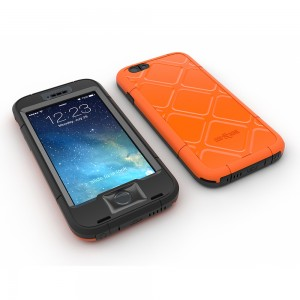 Dog & Bone Wetsuit Water Proof Case For Apple iPhone 6 - Electric Orange (No Belt Clip)