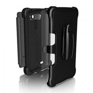 Ballistic Tough Heavy Duty Jacket Maxx Case w/Belt Clip LG G Vista - Black/Gray