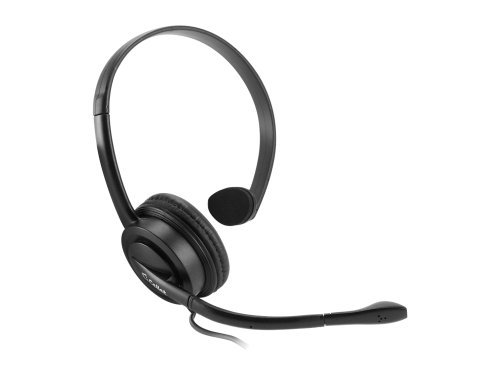 Premium Universal Mono 3.5mm Over-The-Head Headset w/Boom Microphone (Black)