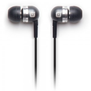 Earjax Bump Series 3.5mm Earbuds w/Mic - Gray w/Silver Accent