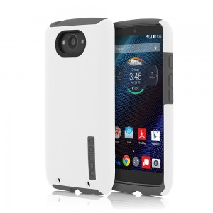 Incipio Technologies - DualPro Case for Motorola Droid Turbo in White/Grey