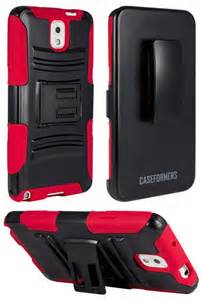 Hybrid Armor RED Combo Case with Stand and Holster for LG G STYLO