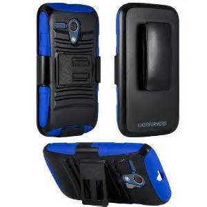 Hybrid Armor BLUE Combo Case with Stand and Holster for LG G STYLO