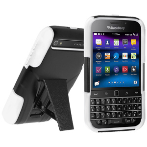 HRC Double Layer Hybrid Case with Kickstand - Black/ White