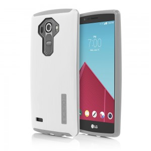 Incipio Technologies - DualPro SHINE Case for LG G4 in White/Gray