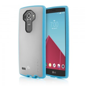 Incipio Technologies - Octane Case for LG G4 in Frost/Neon Blue