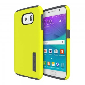 Incipio Technologies - DualPro Case for Samsung Galaxy S6 Lime/Charcoal