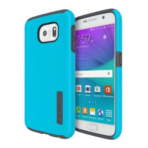 Incipio Technologies - DualPro Case Samsung Galaxy S6 Neon Blue/Charcoal