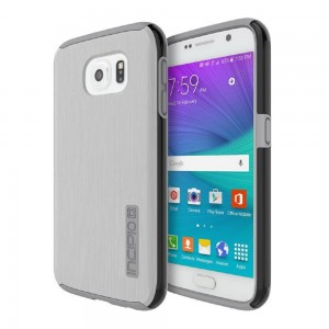 Incipio Technologies - DualPro SHINE Case Samsung Galaxy S6 Silver/Smoke