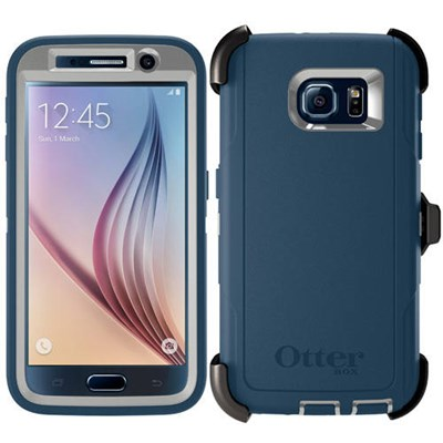 OtterBox DEFENDER Rugged Case w/Belt Clip For Samsung Galaxy S6 (Casual Blue)