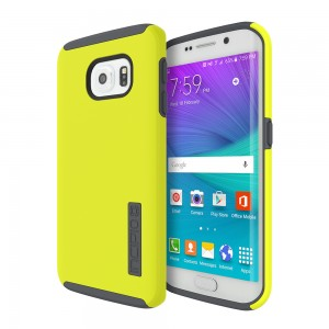 Incipio Technologies - DualPro Case Samsung GS6 edge Lime/Charcoal