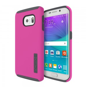 Incipio Technologies - DualPro Case Samsung Galaxy S6 edge Pink/Charcoal