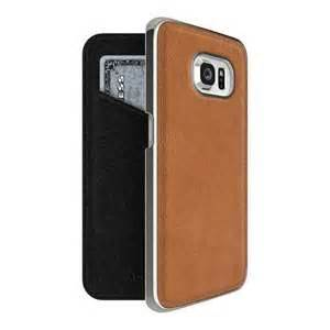 ADOPTED, Inc - Leather Folio Galaxy S6 edge Saddle Brown/Silver