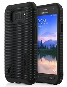 Incipio DualPro Hybrid Case for Samsung Galaxy S6 Active Smartphone - Black / Charcoal