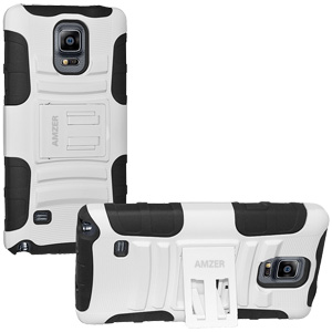 Premium Hybrid Kickstand Case Galaxy Note 4 - Black/ White