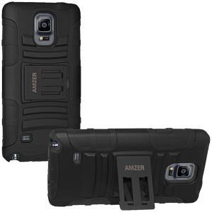 Premium Hybrid Kickstand Case Galaxy Note 4 - Black/Black