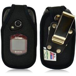 Kyocera DuraXV and DuraXA Heavy Duty Nylon Phone Case w/Removable Metal Clip