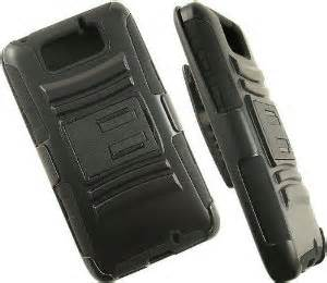 Premium Hybrid Black Armor w/Stand & Belt Clip For DROID Ultra XT1080