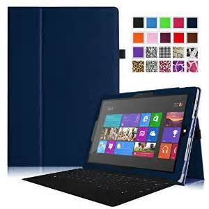 Fintie Folio Slim-Fit PU Leather Stand Cover w/Stylus Holder for Microsoft Surface Pro 3 12-inch Tablet, Navy