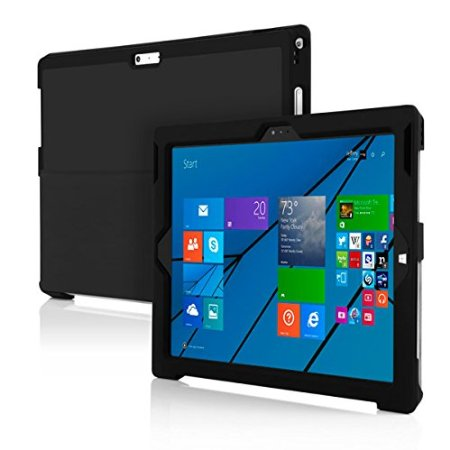 Incipio Microsoft Surface Pro 3 Snap-On Case, feather [Advance] [Thin Case]Black