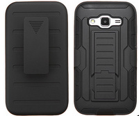 Holster and Protective Cover Combo w/ Patterned Rubberized Texture Galaxy Core Prime
