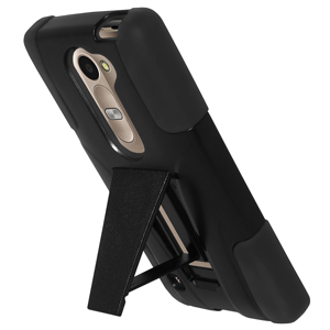Premium Double Layer Hybrid Case with Kickstand - Black/ Black