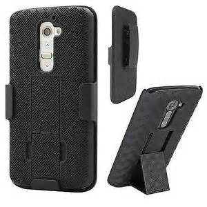 LG G4 HYBRID HOLSTER 3in1 Combo Phone Cover Case w/Kickstand & Belt Clip (Black)